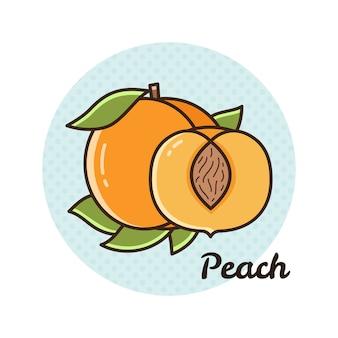 Vektorabbildung eines pfirsiches.