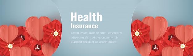 Vektorabbildung im konzept der krankenversicherung.