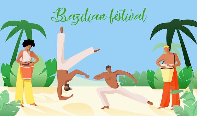 Vektorabbildung ist geschriebenes brasilianisches festival.