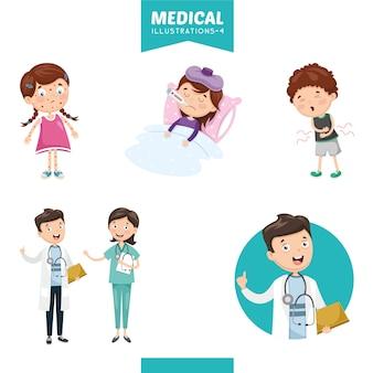 Vektorabbildung von medizinischem