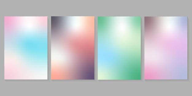 Vektorabstrakte sommer- oder frühlingshintergründe mit farbverlauf für posterbanner