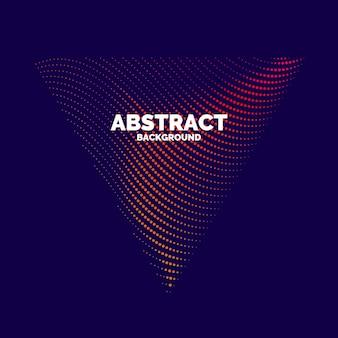 Vektorabstrakter hintergrund mit dynamischen wellen, linien und partikeln. illustration passend zum design