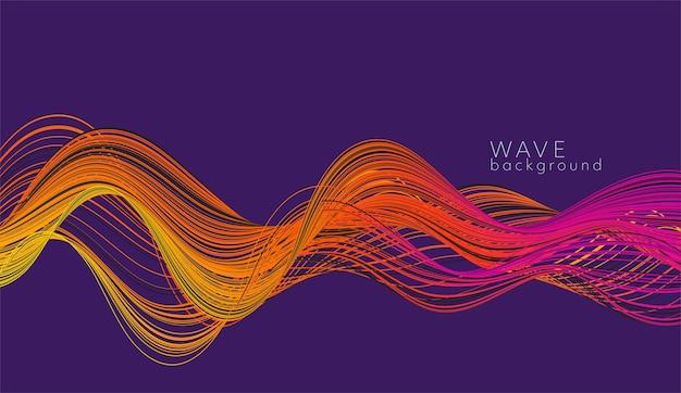 Vektorabstrakter hintergrund mit farbabstrakter welle