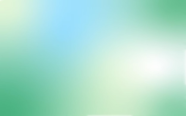 Vektorabstrakter sommerhintergrund mit grüner und blauer steigung für fahnenplakat