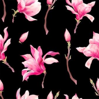 Vektorblumenfrühlings-nahtloses muster