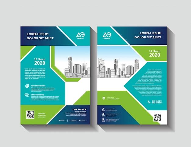 Vektorbroschüre modernes design layoutvorlage infografik