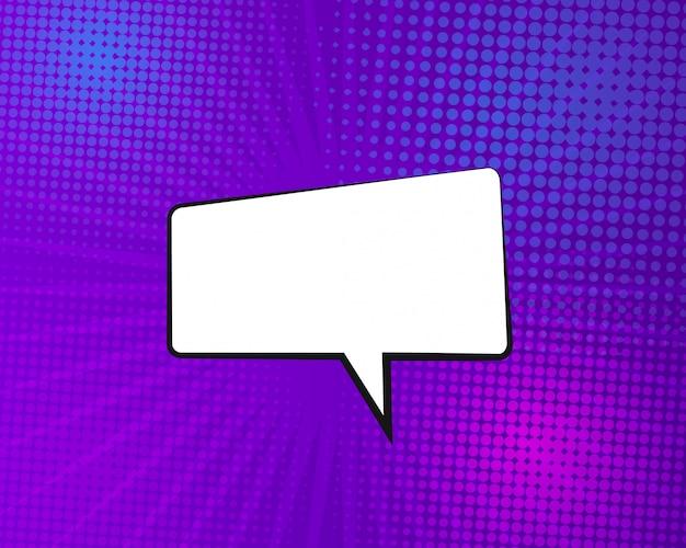 Vektorcomic-buchhintergrund mit spracheblase