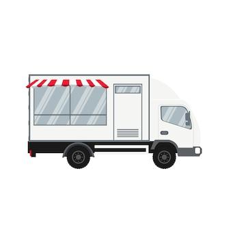 Vektordesign des modernen nahrungsmittellastwagens