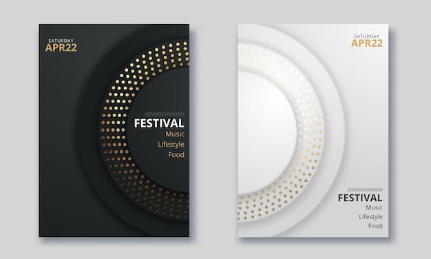 Vektordesign für titelbericht, broschüre, flyer, poster im format a4