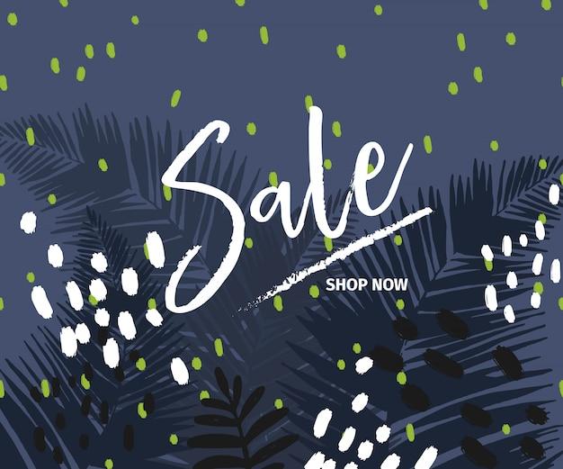 Vektorfahne für shopwebsite. sommerschlussverkauf.