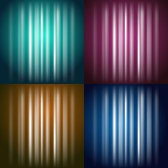 Vektorfarbener glänzender hintergrund: gelb, rot, grün, blau
