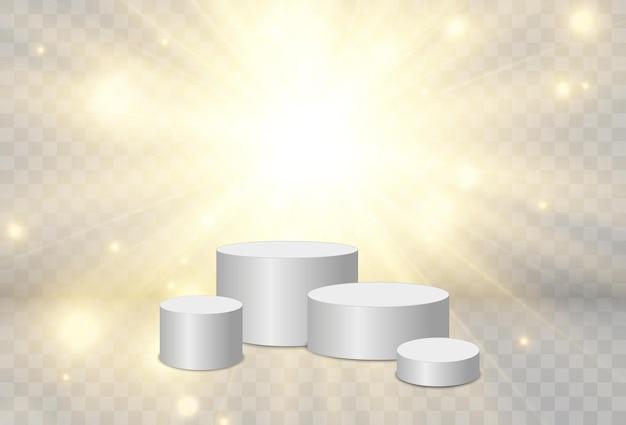 Vektorgrafik für preisträger podest oder plattform zur ehrung der preisträger