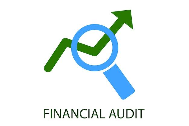 Vektorgrünes und hellblaues logo für die clubausbildung der financial audit institution und andere verwandte