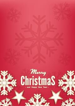 Vektorhintergrund der frohen weihnachten und des guten rutsch ins neue jahr