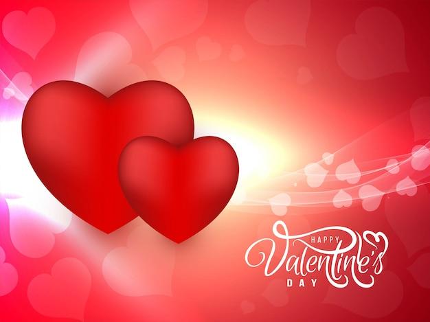 Vektorhintergrund des glücklichen valentinstags schöner
