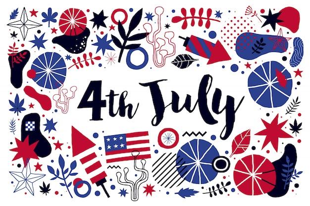 Vektorhintergrund für am 4. juli unabhängigkeitstag