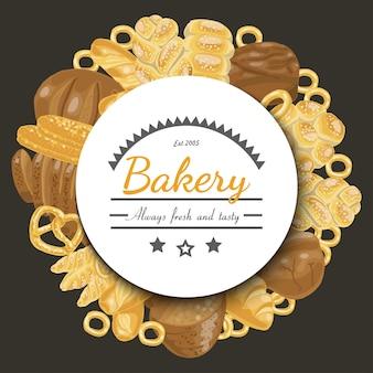 Vektorhintergrund mit bäckereiprodukten
