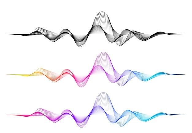 Vektorhintergrund mit farbiger abstrakter mischungswelle