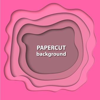Vektorhintergrund mit rosa farbpapierschnitt