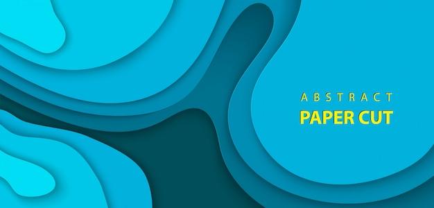 Vektorhintergrund mit tiefem blauem farbpapierschnitt