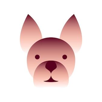 Vektorhund im farbverlaufsstil. digitale kunst