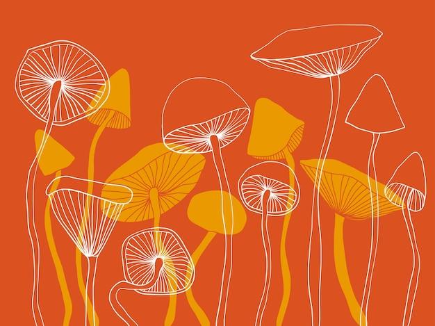 Vektorillustration der abstrakten grafik der pilze