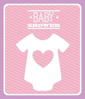 Vektorillustration der babydusche-grafikdesign