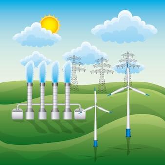 Vektorillustration der erneuerbaren energie