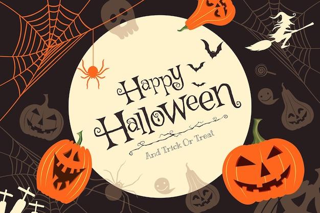 Vektorillustration der glücklichen halloween-konzeptdekoration.