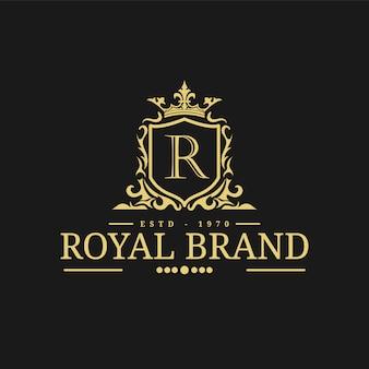 Vektorillustration der königlichen logo-entwurfsschablone.