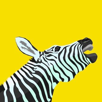 Vektorillustration der kreativen grafik des zebras
