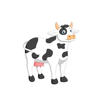 Vektorillustration der kuhkarikatur