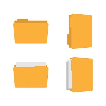 Vektorillustration der ordnergrafikdesignschablone