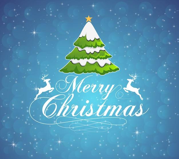 Vektorillustration der typografie der frohen weihnachten