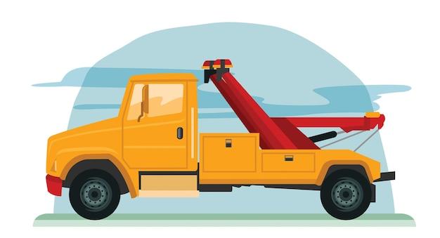 Vektorillustration des abschleppwagens