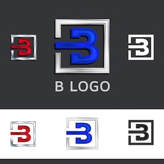 Vektorillustration des abstrakten buchstabens b.