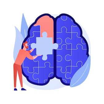 Vektorillustration des abstrakten konzepts der achtsamkeit. achtsames meditieren, mentale ruhe und selbstbewusstsein, fokussieren und lösen von stress, angst, alternative abstrakte metapher für die behandlung zu hause.