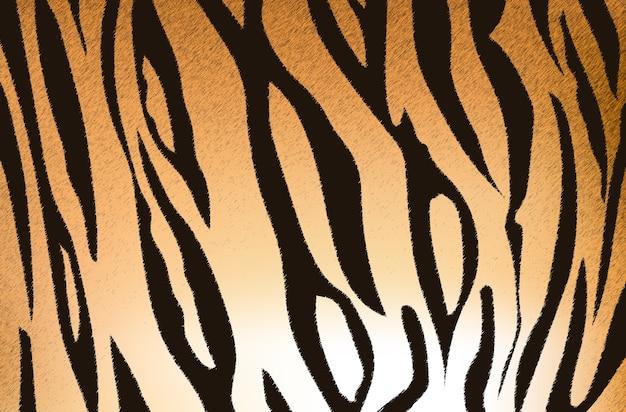 Vektorillustration des bengal-tigerstreifenmusters