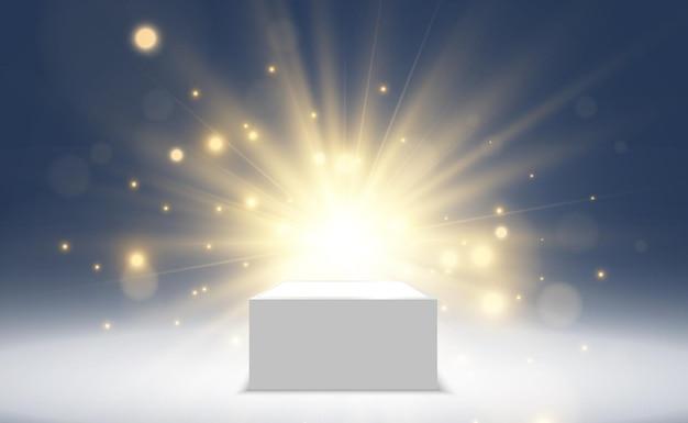 Vektorillustration des fallenden goldenen konfettis auf einem transparenten hintergrund. feiertagsbanner oder layout zum feiern.