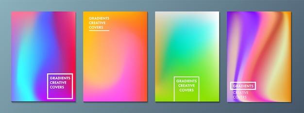 Vektorillustration des hellen farbhintergrundes mit der maschengradientenbeschaffenheit für minimale dynamik