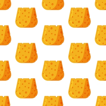 Vektorillustration des käsemusters nahtlose illustration mit käse