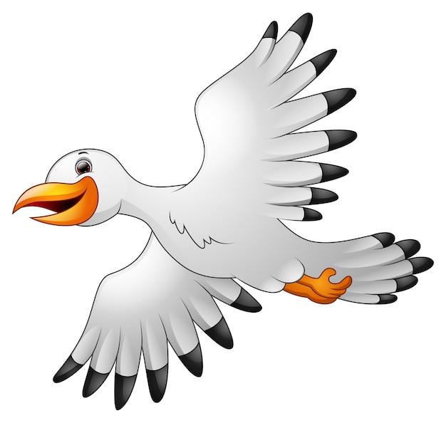Vektorillustration des karikaturseemöwefliegens
