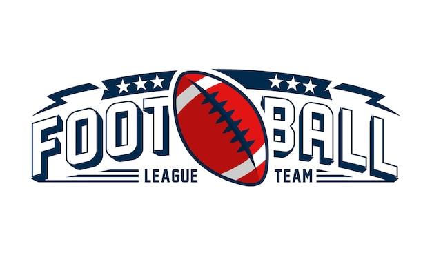 Vektorillustration des logos des amerikanischen fußballs
