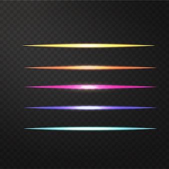 Vektorillustration des realistischen lichteffektes
