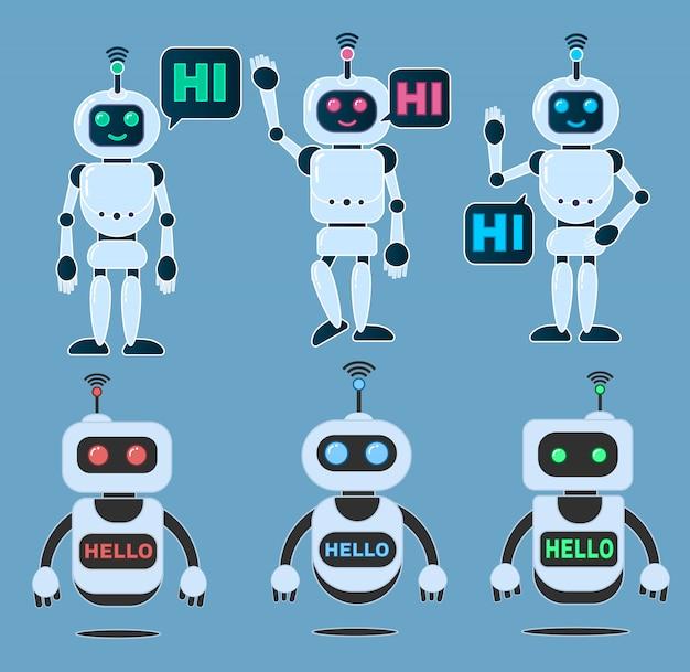 Vektorillustration des roboterinnovationstechnologie-zukunftsroman-designs 3d.