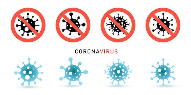 Vektorillustration eines coronavirus. stoppen sie coronavirus