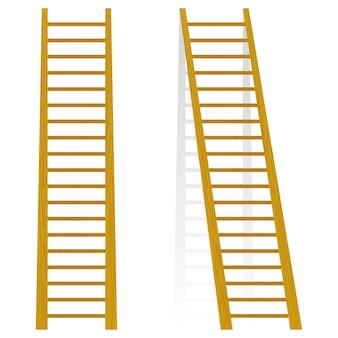 Vektorillustration eines hölzernen treppenhauses