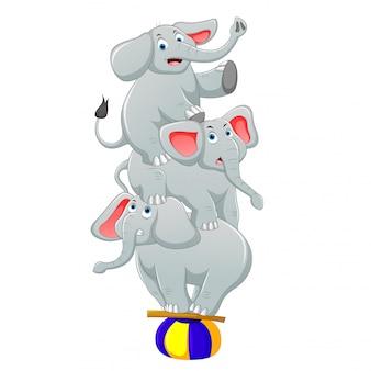Vektorillustration eines niedlichen cartoonelefanten