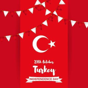 Vektorillustration für den unabhängigkeitstag der türkei 29. oktober