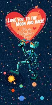 Vektorillustration in der flachen art über roboter